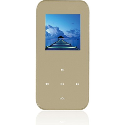 4 GB MP3 Video Player with 1.5` LCD, FM Radio, Recorder (Gold)