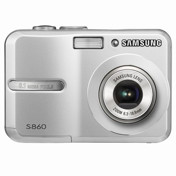 S860 8MP 2.4` LCD Digital Camera (Silver)