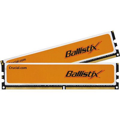 2GB kit (1GBx2), Ballistix 240-pin DIMM, DDR2 PC2-6400, NON-ECC,