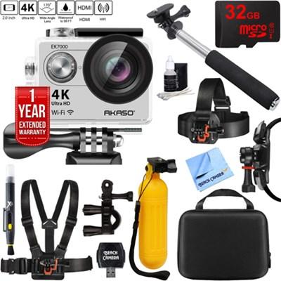 Ultra HD 4k 170 Degree Wide Waterproof Sports Action Camera 32GB Mount Kit