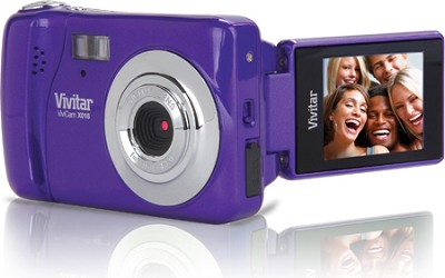 ViviCam iTwist X018 10.1 MP Flip Screen HD Digital Camera (Grape)