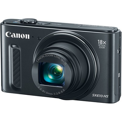 PowerShot SX610 HS 20.2 MP Digital Camera 18x Zoom 3-inch LCD with WiFi - Black