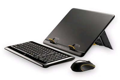 Notebook Kit MK605 - Compact Wireless Keyboard, Wireless Mouse, Notebook Riser