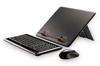 Notebook Kit MK605 - Compact Wireless Keyboard, Wireless Mouse, Notebook Riser