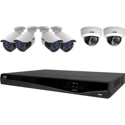 Full HD 1080p 6-Camera Security System with 2TB HDD