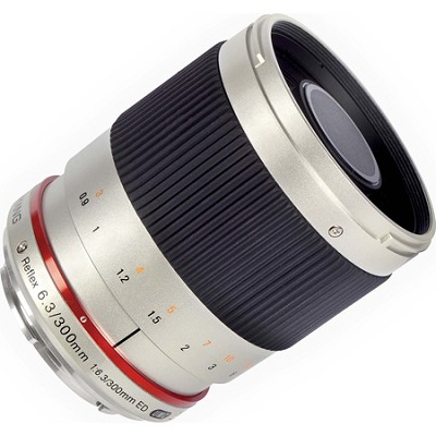 300mm F6.3 Mirror Lens for Fuji X - Silver