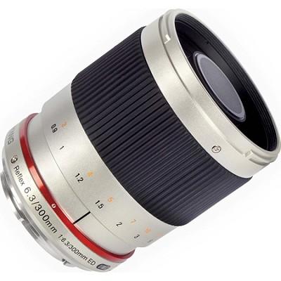 300mm F6.3 Mirror Lens for Fuji X - Silver