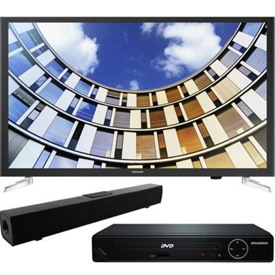 Flat 32` LED 1080p 5 Series SmartTV +HDMI DVD Player+Bluetooth Sound Bar