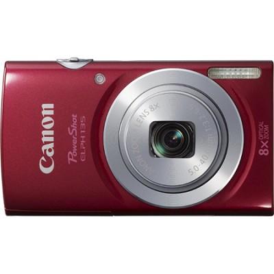PowerShot ELPH 135 16MP 8x Optical Zoom Digital Camera - Red