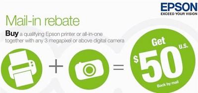 $50 Digital Camera + Epson Printer Rebate Coupon