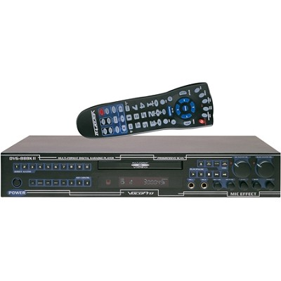 DVG-888K II Professional Rack-Mountable Multi-Format Player with Mic and Volume