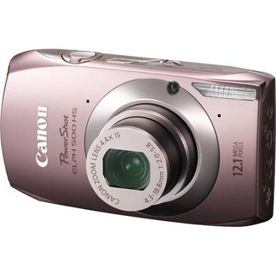 PowerShot ELPH 500 HS Pink Digital Camera w/ 3.2 inch Touch Screen