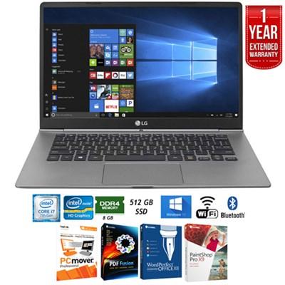 14z970-A.AAS7U1 14` Intel i7-7500U 8GB Touch Laptop+Ext. Warranty Pack