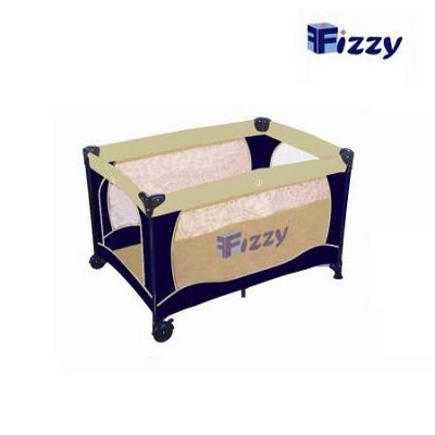 Full Sized Play Pen with Travel Bag - Navy/Beige