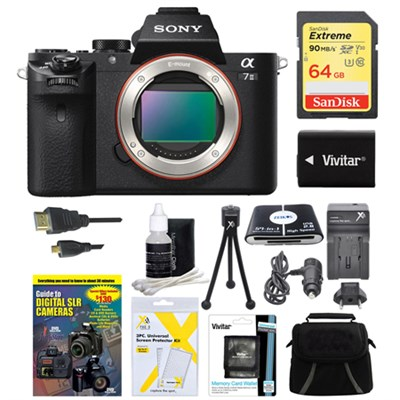 Alpha 7II Interchangeable Lens Camera Body 64GB Bundle
