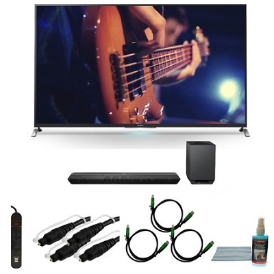 KDL65W950B - 65-Inch Ultimate Smart 3D LED HDTV Motionflow XR 480 Bundle