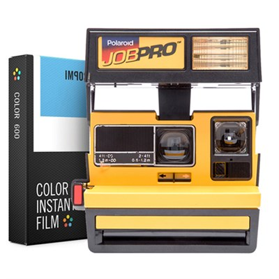 Polaroid 600 Job Pro Instant Film Camera Yellow w/ Instant Lab Color Film Bundle