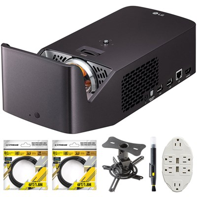 PF1000UW Ultra Short Throw Home Theater Projector w/ Mount & Accessory Bundle