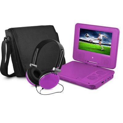 7` DVD Player Bundle Purple