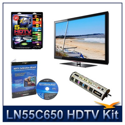 LN55C650 - 55` LCD HDTV + Hook-Up + Power Protection + Calibration DVD