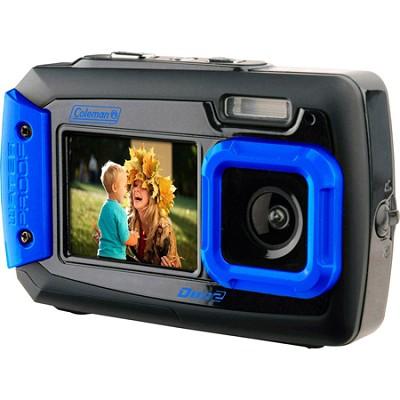 Duo2 2V9WP Rugged Dual Screen Waterproof Camera - Blue