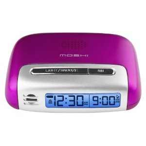 Speak n Set Touch Activated Travel Alarm Clock Pink