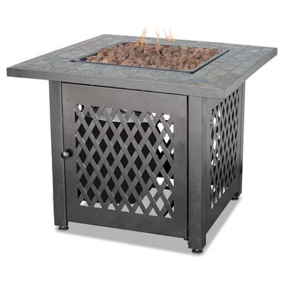 UF LP Gas Slate Outdr Firebowl