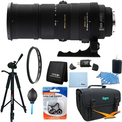 150-500mm F/5-6.3 APO DG OS HSM Autofocus Lens For Nikon Lens Kit Bundle