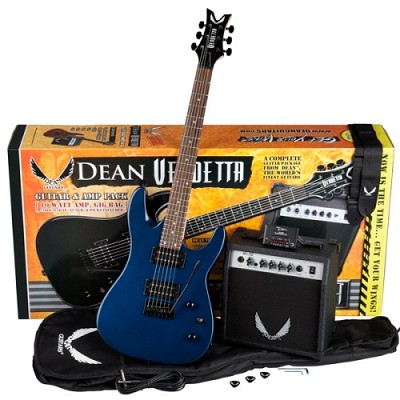 Vendetta XM Tremolo Electric Guitar Pack with Amplifier - Blue