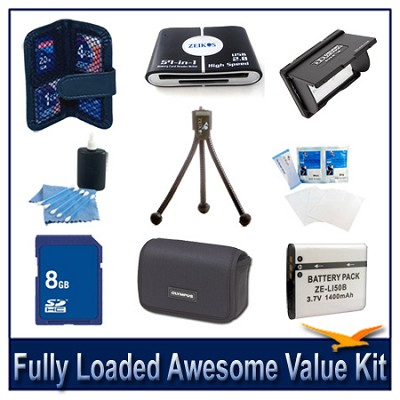 Fully loaded Awesome Value Kit for the Olympus Stylus 6000,8000 Stylus 9000