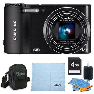 4 GB Bundle WB150F 14 MP 18X Wi-Fi Digital Camera - Black