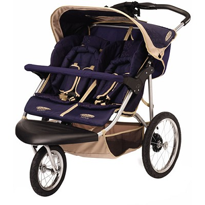 Safari Swivel Double Jogging Stroller