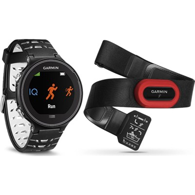 Forerunner 630 GPS Smartwatch Heart Rate Monitor Bundle - Black and White