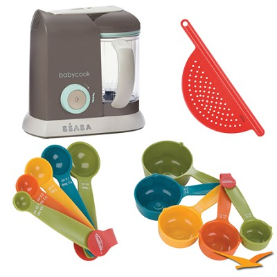 Babycook Pro Baby Food Processor and Steamer - Latte - Bundle