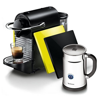 Pixie Clip Black and Lemon Neon Espresso Machine Bundle