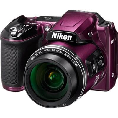 COOLPIX L840 16MP 38x Opt Zoom Digital Camera (Plum) Refurbished