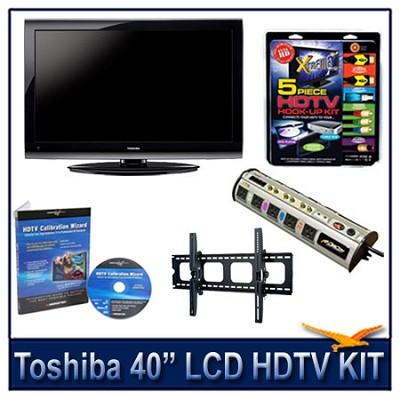 40` 1080p LCD HDTV + Hook-up Kit + Power Protection + Calibration + Tilt Mount