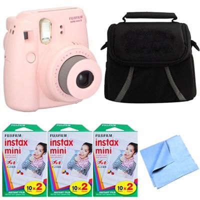 Fuji Instax Mini 8 Instant Camera Pink 60 Sheet Deluxe Bundle