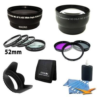 Ultimate Lens Accessory Kit for NIKON (D7000 D5100 D5000 D3200 D3100 D3000)