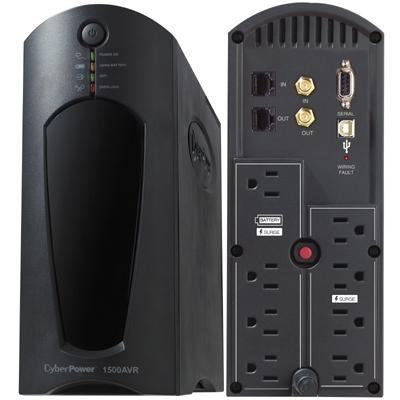 1500VA/900W Uninterruptible Power Supply with Power Panel - CP1500AVRT