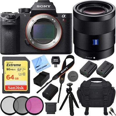 a7R II Full-frame Mirrorless Interchangeable 42.4MP Camera Body 55mm Lens Bundle