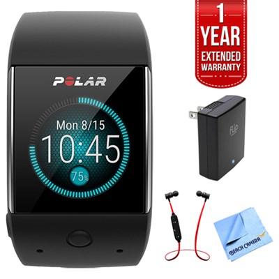 M600 Sports GPS Smart Watch Black w/ Extended Warranty Bundle