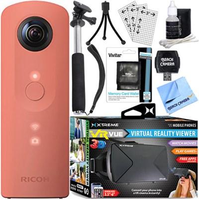 Theta SC 360 Degree Full HD Spherical Digital Camera + VR Bundle (Pink)