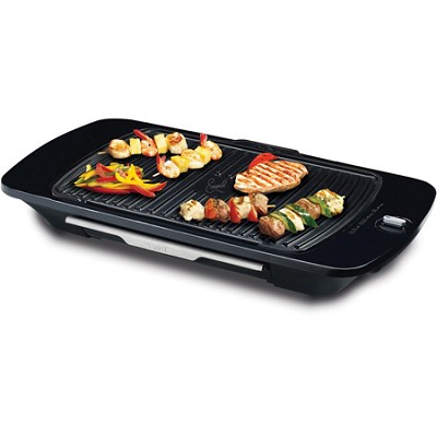 Emeril by T-fal Gourmet Griller w/ Removable Grill Plate, Silver (CB6530003)