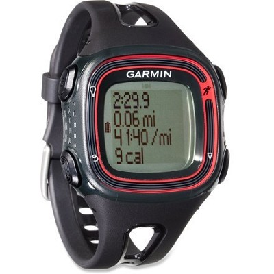 Forerunner 10 GPS Enabled Running Watch with Virtual Pacer (Black/Red)