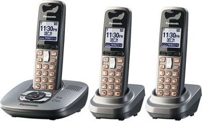 KX-TG6433M DECT 6.0 Expandable Digital Cordless Phone System - OPEN BOX