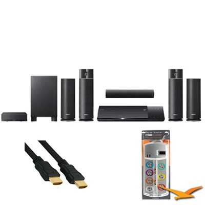 BDVN790W Blu-ray Home Theater System 1000w Wireless Speakers w/ HookUp Bundle