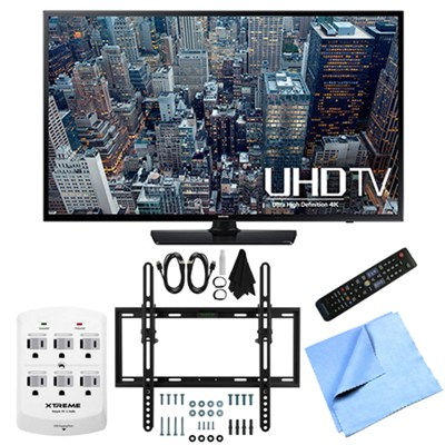 UN40JU6400 - 40-Inch 4K Ultra HD Smart LED HDTV Flat/Tilt Wall Mount Bundle