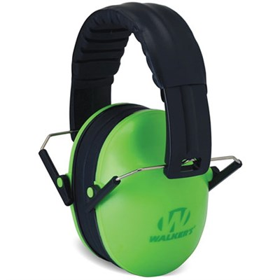 Game Ear Children's Passive Folding Ear Muff Hearing Protection - Green