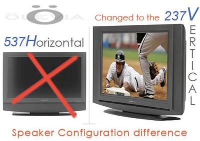 237V -37` HD integrated LCD Television (vertical speaker position)